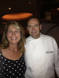 Elaine Harris, Cuisineist Editor-In-Chief and Chef Charlie Palmer