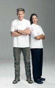 Chef Gordon Ramsay and Chef Christina Wilson