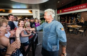 Guy Fieri welcomes guests on opening day of Guy Fieri's Vegas Kitchen & Bar Photo: Photo credit: Erik Kabik.