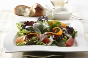 Salad With Tofu Ranch Dressing