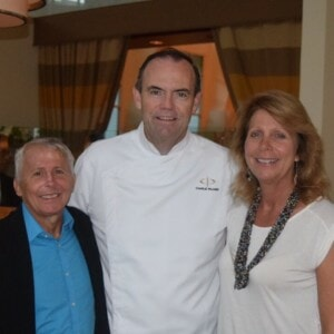 Scott Harris, Master Chef Charlie Palmer , Elaine Harris